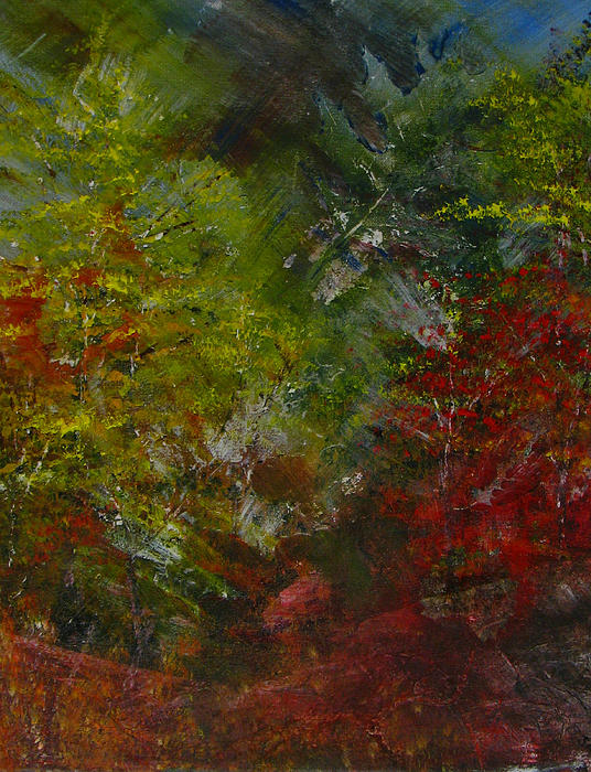 Autumn Sunshine Abstract Print by Sherry Robinson