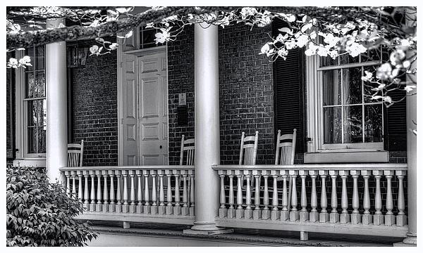 Avenel Porch - Bedford - Virginia Print by Steve Hurt