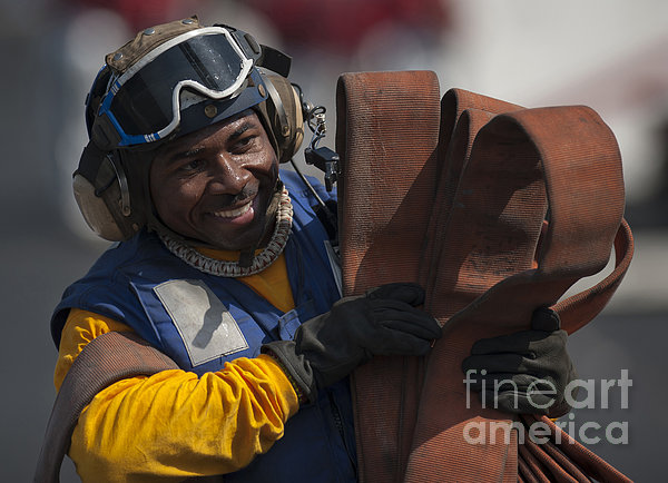Aviation Boatswains Mate  Carrying Print by Stocktrek Images