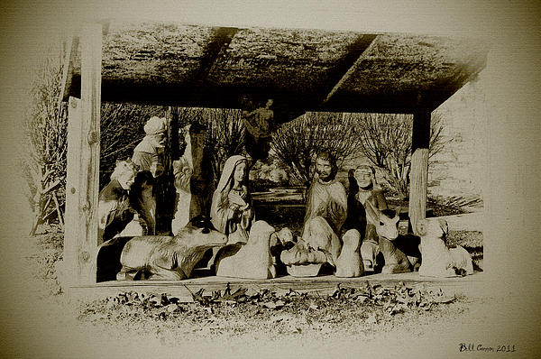Away In The Manger Print by Bill Cannon