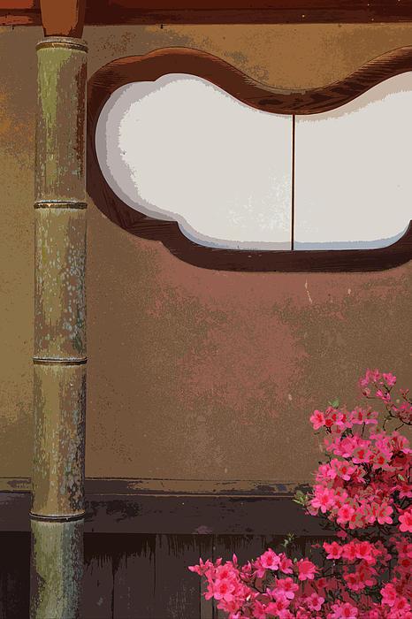 Azalea At Shisendo Print by Cinnabar and Saffron