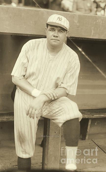 Babe Ruth Posing Print by Padre Art