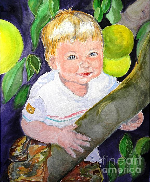 Baby In The Tree Print by Susan  Clark