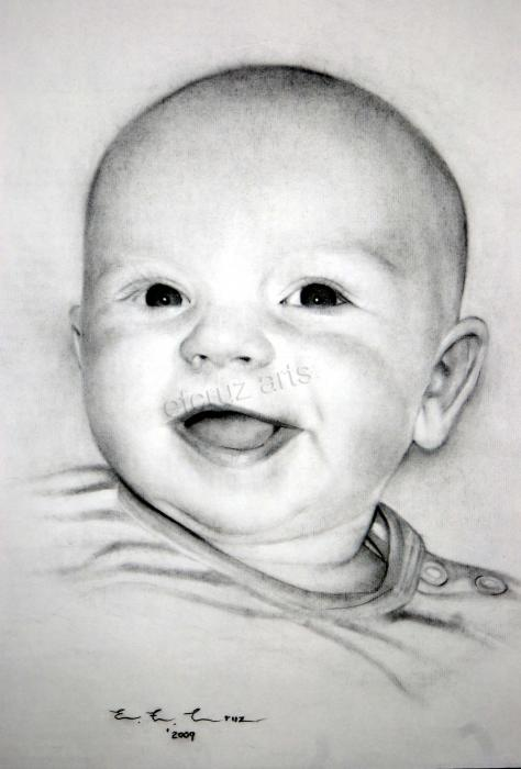 Pencil drawings of portraits