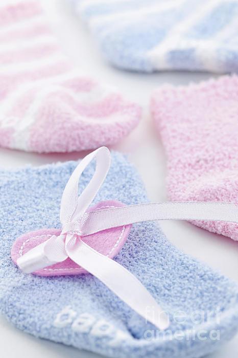 Baby Socks  Print by Elena Elisseeva