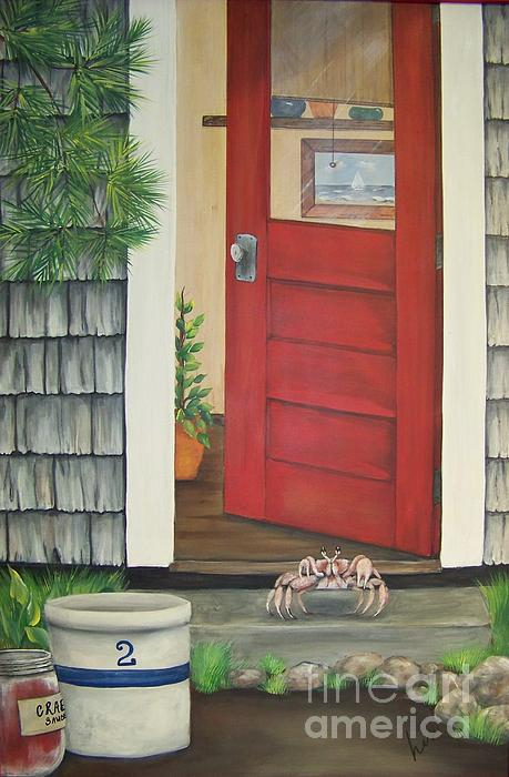 Backdoor Visitors Three Print by Lin Ruch