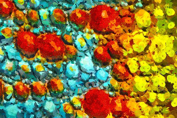 Bacteria 4 Print by Angelina Vick