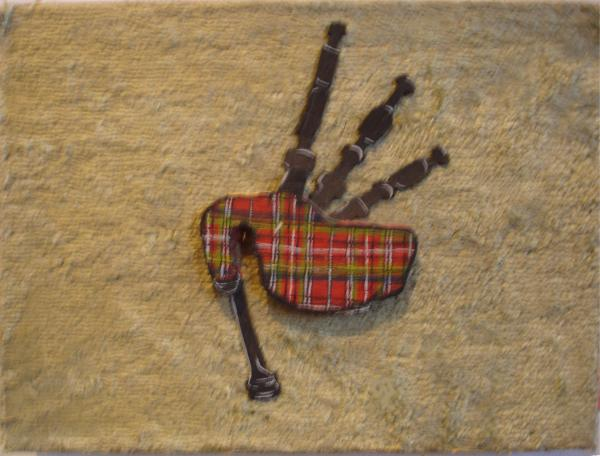 Bagpipes Balsa Print by Paul Knotter
