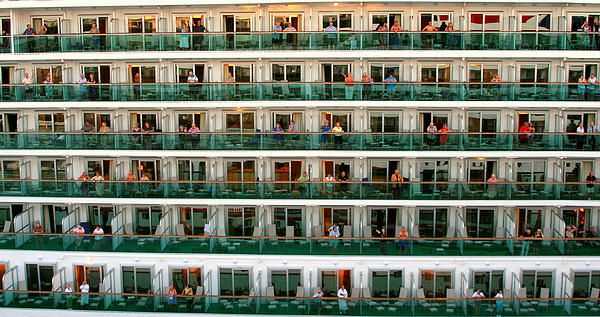 Balcony People Print by Perry Webster