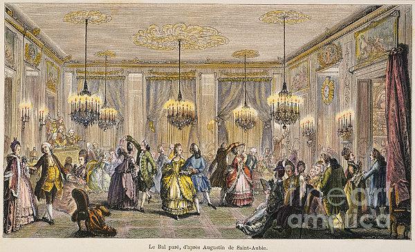 Ball, 18th Century Print by Granger
