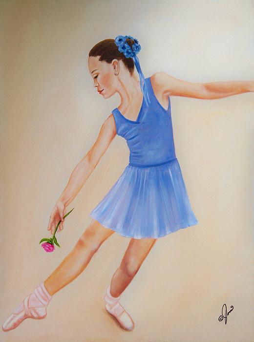 Ballerina Blue Painting