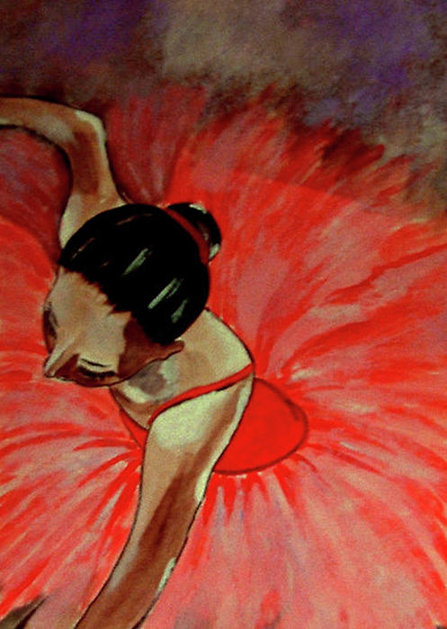 Ballerine Rouge Print by Rusty Woodward Gladdish