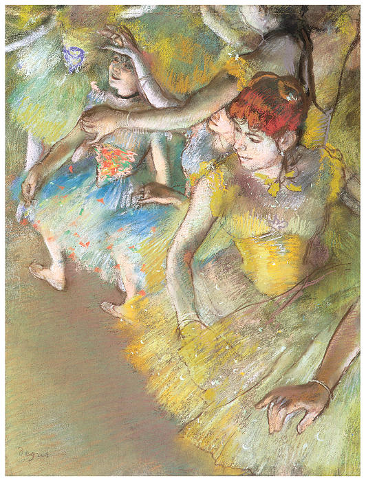 Ballet Dancers On The Stage Print by Edgar Degas