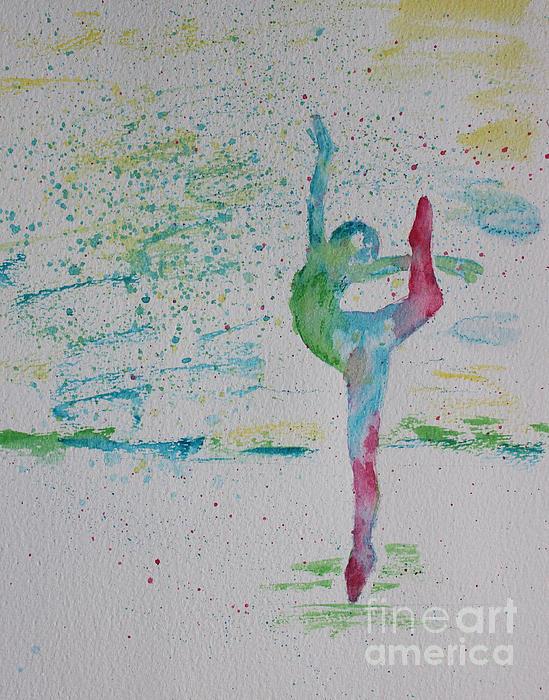 Ballet Pointe 2 Print by Carolyn Weir