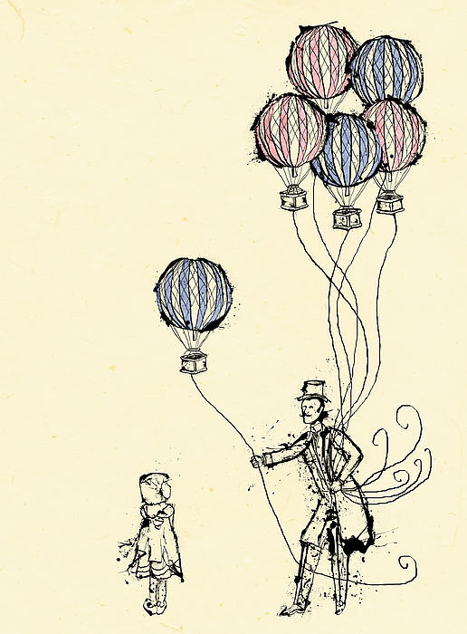 Ballons For Sale Print by William Addison
