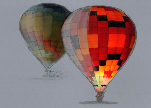 Balloon Glow Print by Sharon Foster
