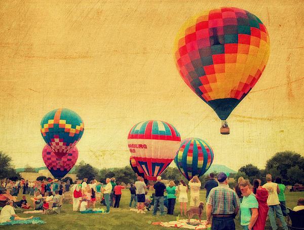 Balloon Rally Print by Kathy Jennings