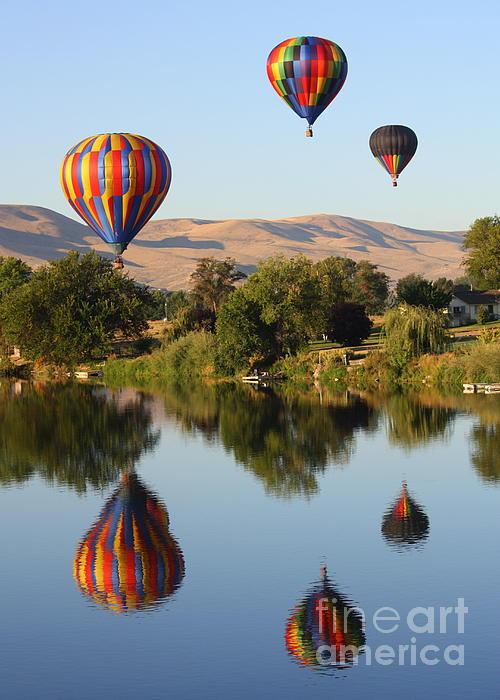 Balloons Over Horse Heaven Print by Carol Groenen