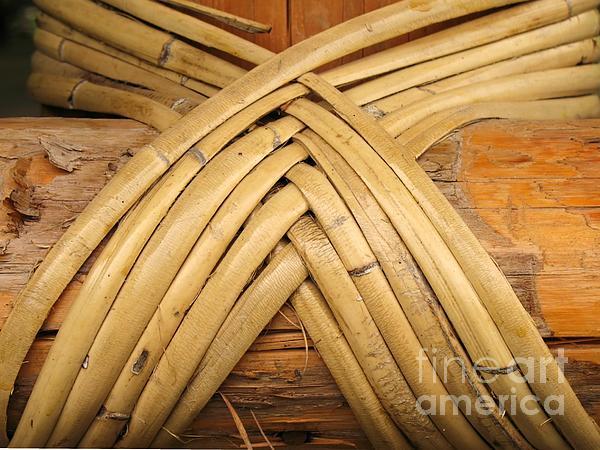 Bamboo And Wood Construction Print by Yali Shi