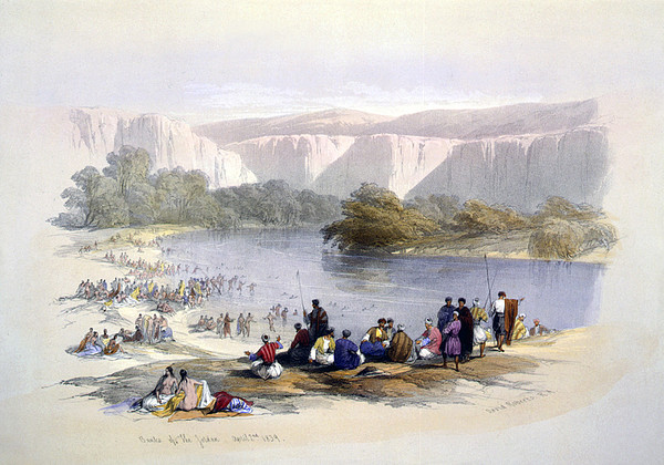 Banks Of The Jordan, 1839, Lithograph Print by Everett