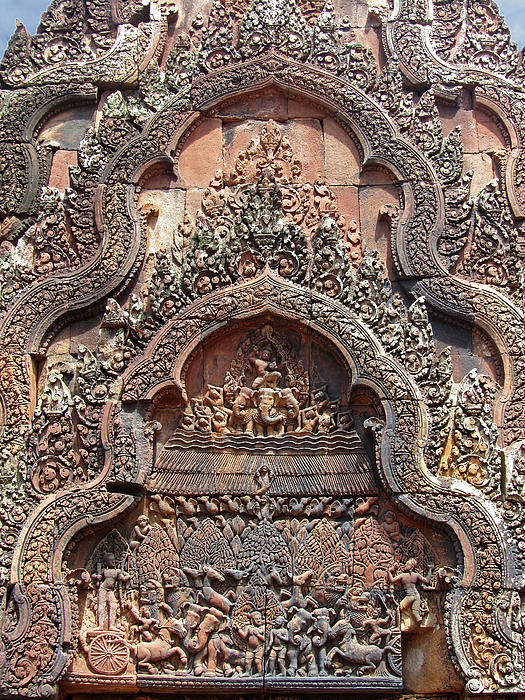 Banteay srei temple chandi carvings by mark sellers