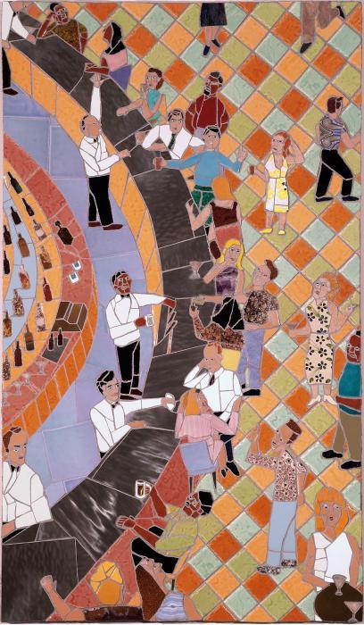 Bar Scene Print by Jonathan Mandell