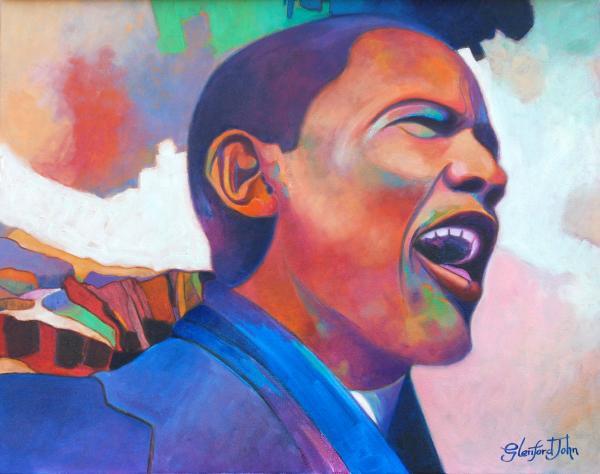 Barack Obama Print by Glenford John