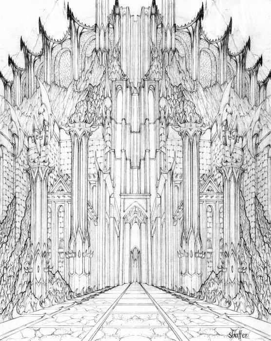 Barad-dur Gate Study Print by Curtiss Shaffer