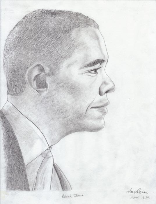 Barak Obama Print by Jose Valeriano