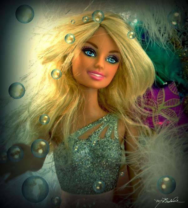 Barbie Bubbles In Hdr Print by Melissa Wyatt