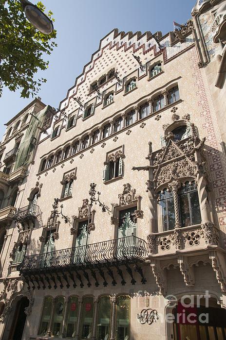 Barcelona Casa Amatller Building Print by Matthias Hauser