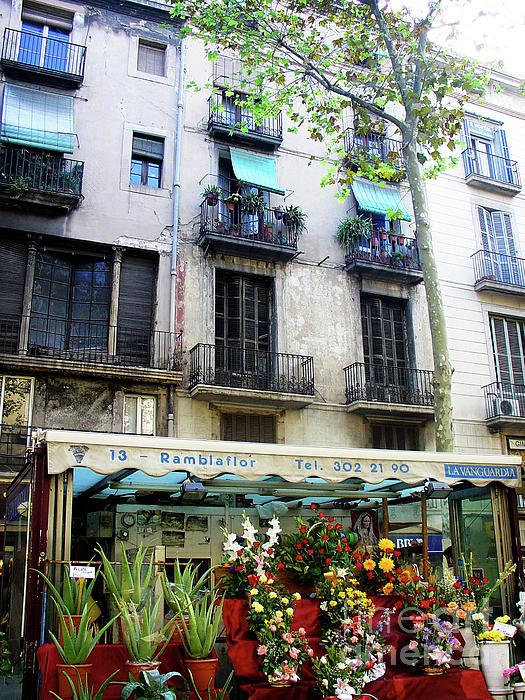Barcelona Las Ramblas Print by Julie Palencia