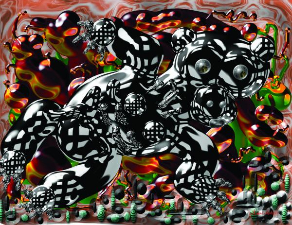 Bare Bear Print by Marko Mitic