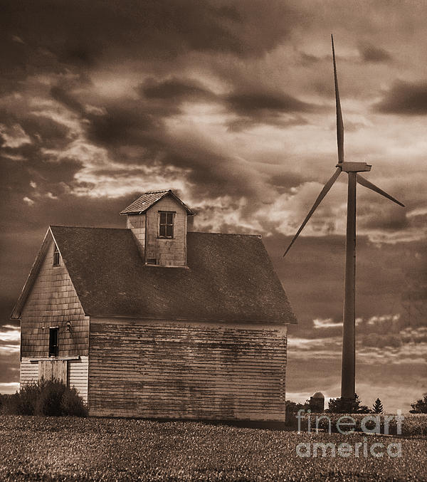Jim Wright - Barn and windmill