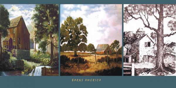 Barns America Print by Donn Kay