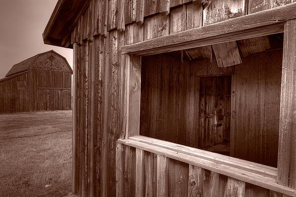 Barns Grand Tetons Print by Steve Gadomski