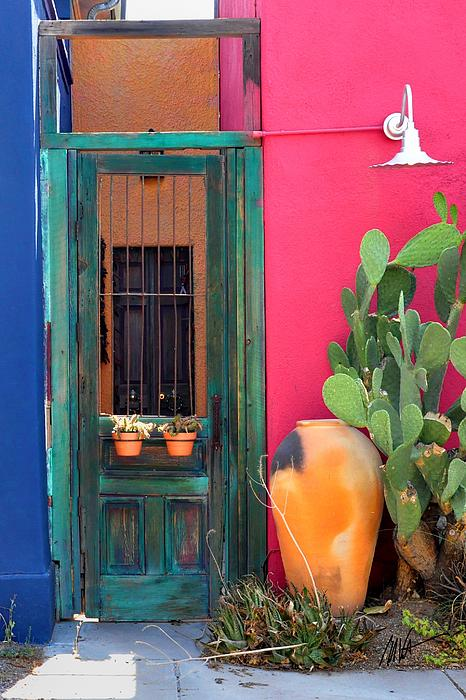 Mark Valentine - Barrio Door Pink Blue and Gray