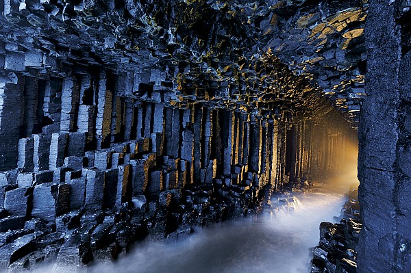 Basalt Pillars Line Fingals Cave Print by Jim Richardson