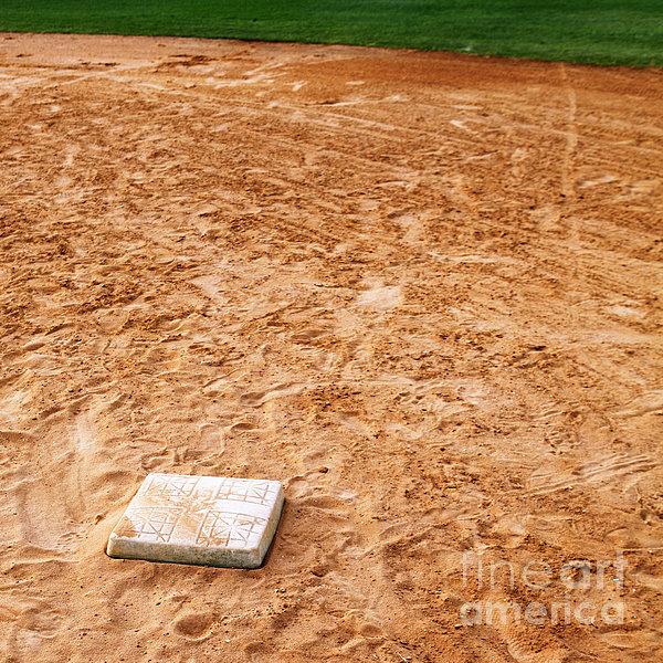 Baseball Field Base Print by Skip Nall