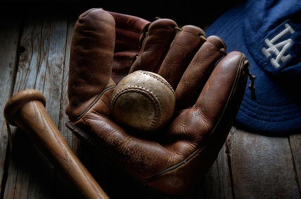 Baseball Glove Print by Bob Nardi