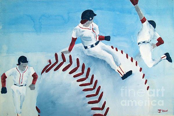 Baseball Print by Jessica Grace Leahy