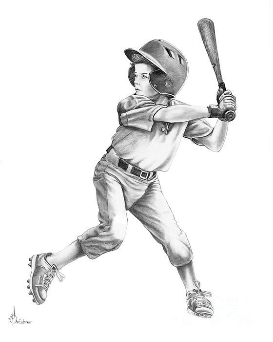 Baseball Kid Print by Murphy Elliott