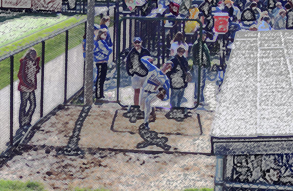 Baseball Pitcher Warming Up Digital Art Print by Thomas Woolworth