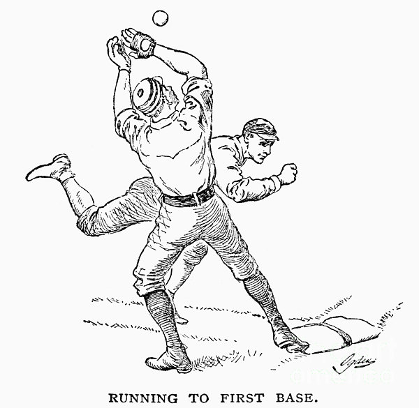 Baseball Players, 1889 Print by Granger