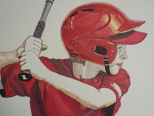 Baseball Ready 2 Print by Michael Runner