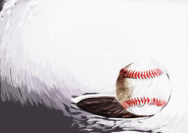 Baseball Print by Tilly Williams