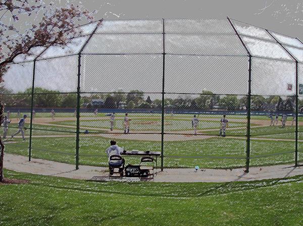 Baseball Warm Ups Digital Art Print by Thomas Woolworth