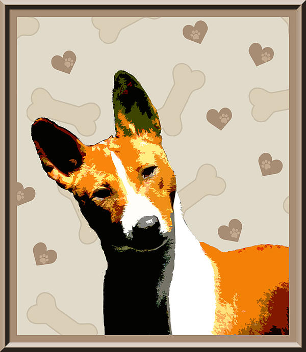 Basenji Print by One Rude Dawg Orcutt