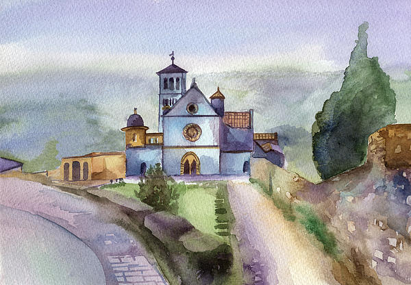 Basilica Of St Francis  Assisi Print by Lydia Irving