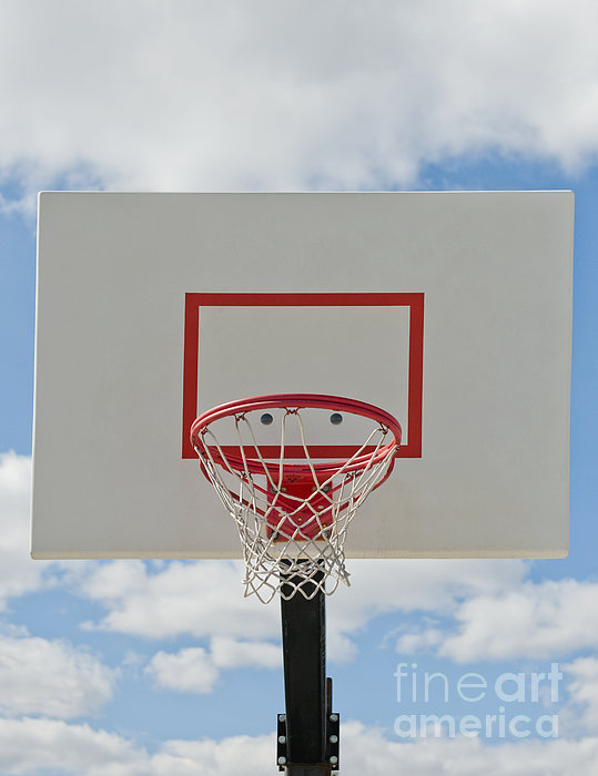 Basketball Backboard With Hoop And Net Print by Thom Gourley/Flatbread Images, LLC